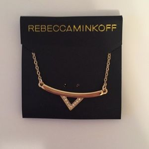 Rebecca Minkoff gold and crystal necklace